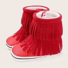 Baby Girl Fringe Decor Boots