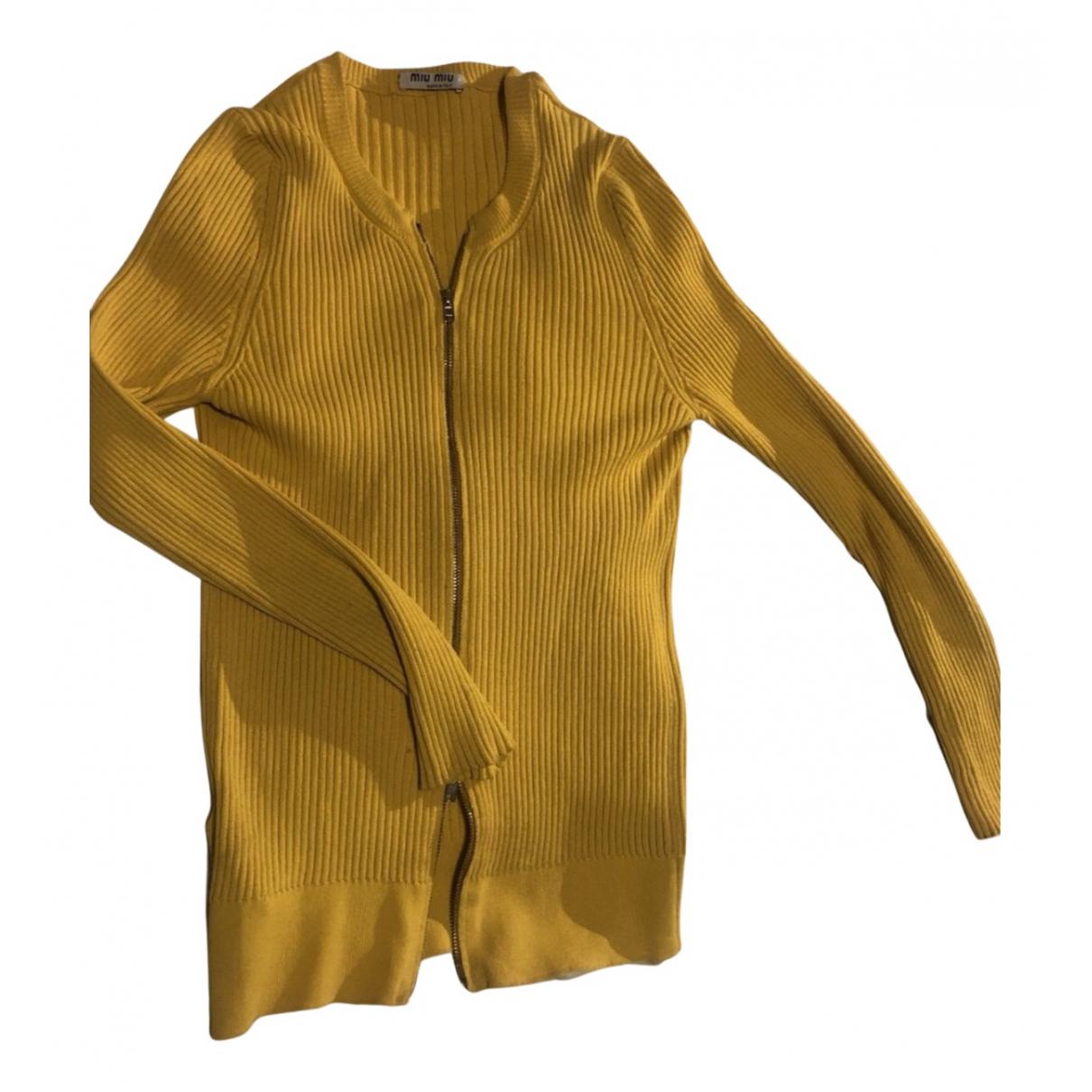 Miu Miu - Top   pour femme - jaune