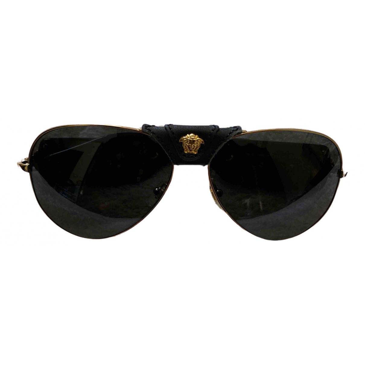 Versace \N Black Metal Sunglasses for Men \N