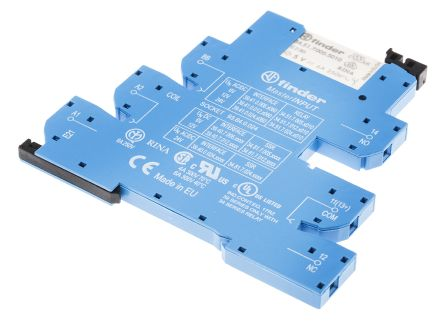 Finder , 6V ac/dc Coil Relay Interface Module SPDT, 6A Switching Current DIN Rail Single Pole