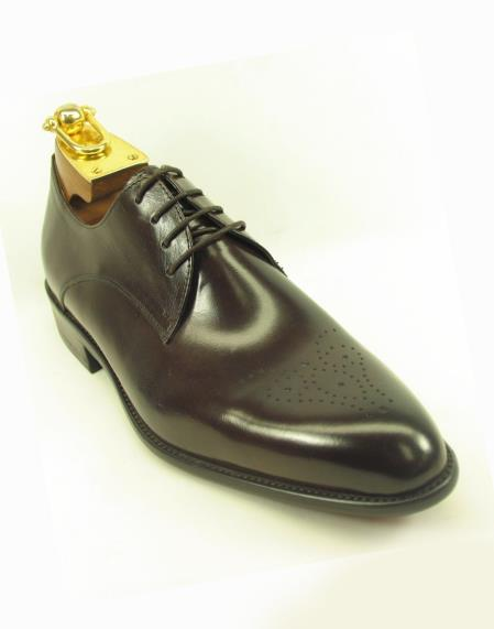 Chestnut Men's Lace Up Style Fashionable Leather Shoes