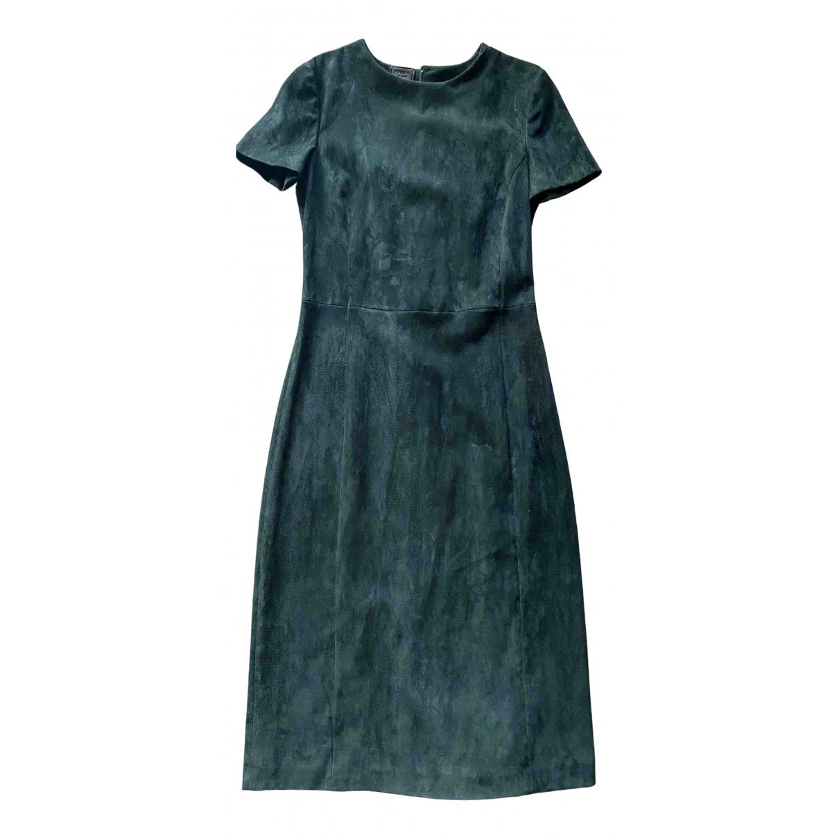 Prada \N Kleid in  Gruen Veloursleder