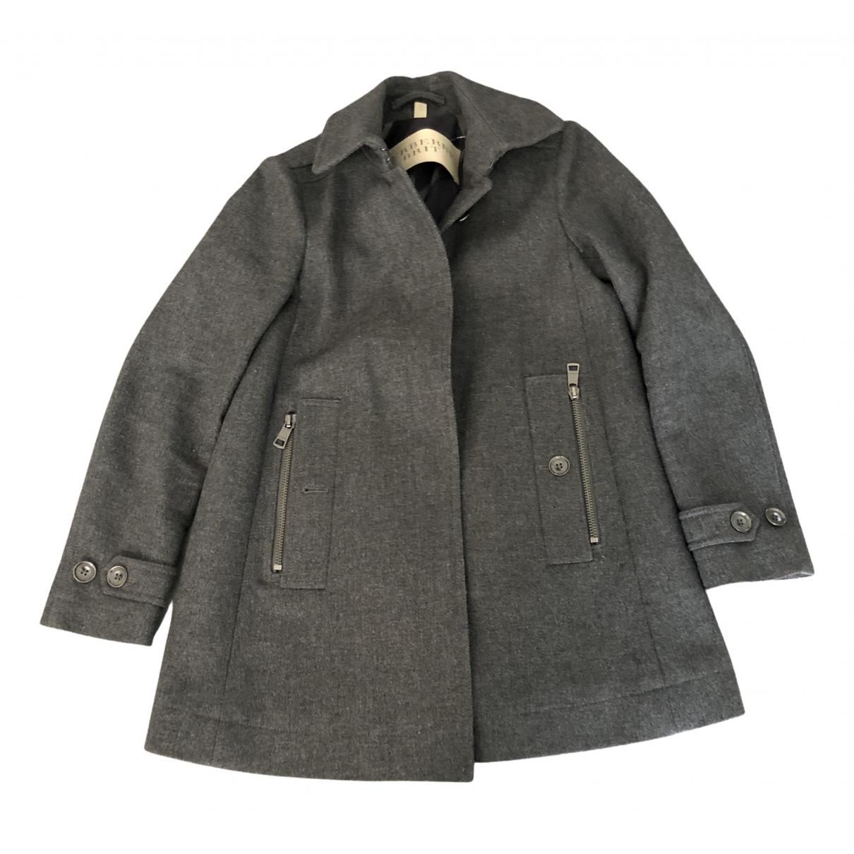 Burberry N Grey Wool coat for Women 38 IT