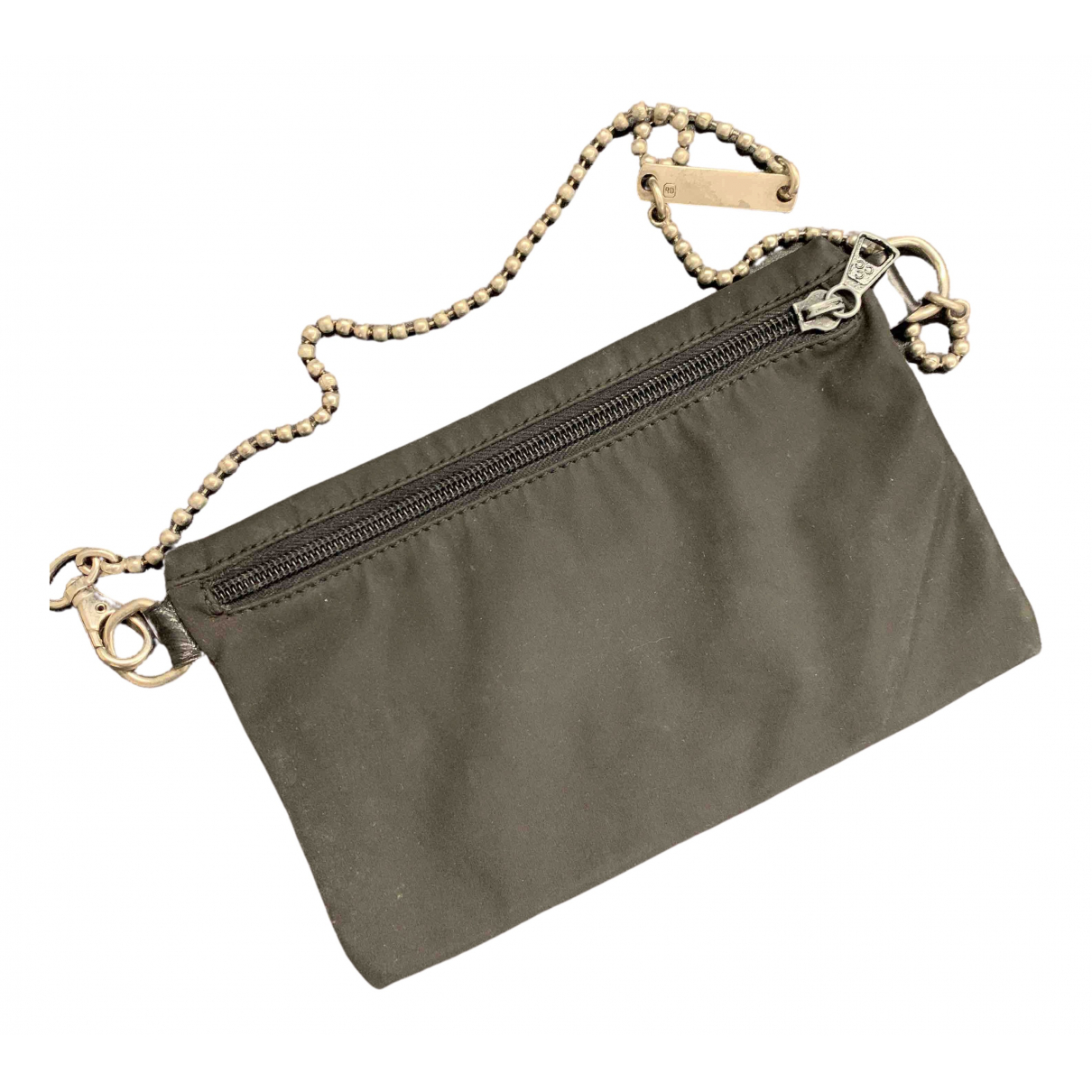John Richmond \N Clutch in  Schwarz Leinen
