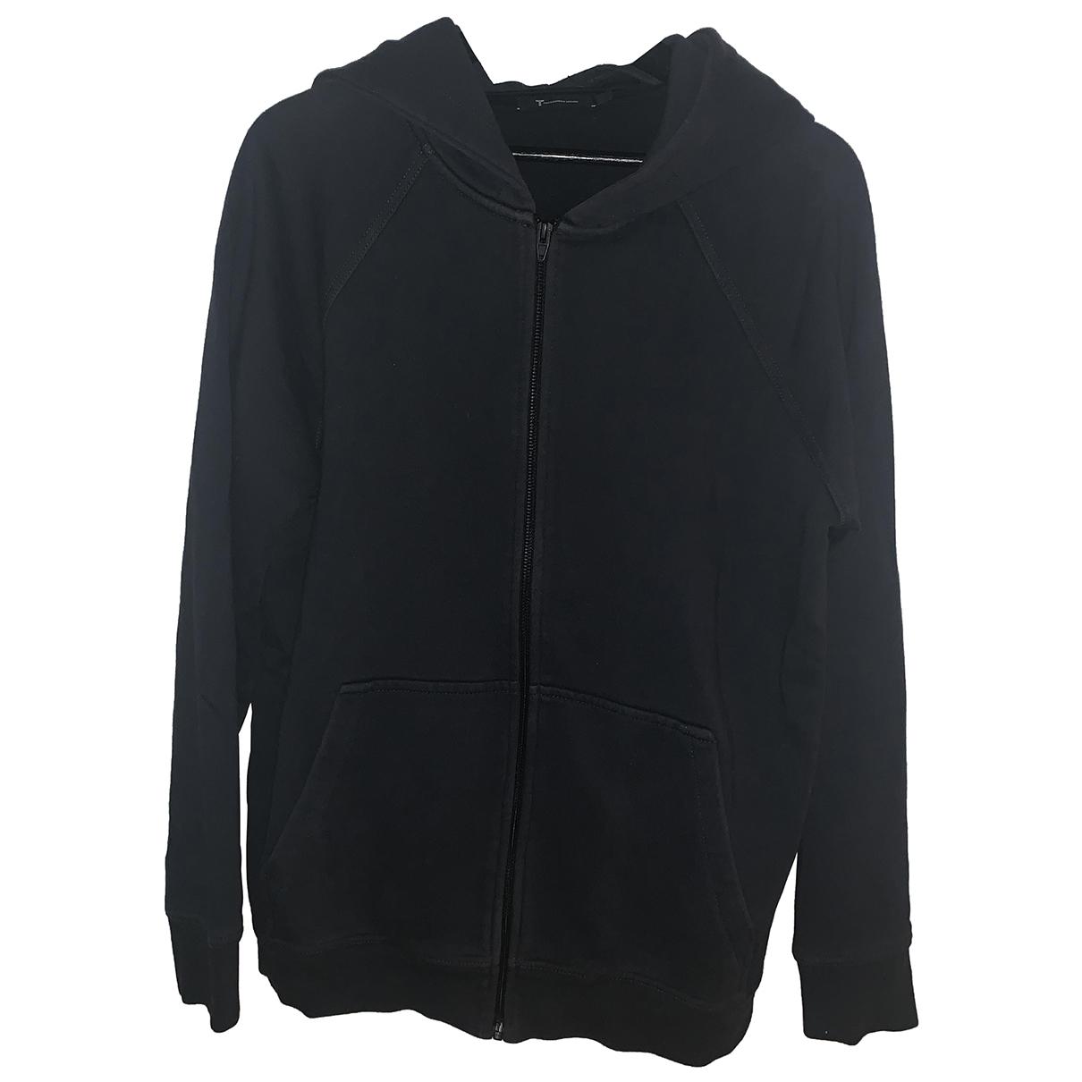 T By Alexander Wang \N Pullover.Westen.Sweatshirts  in  Grau Baumwolle