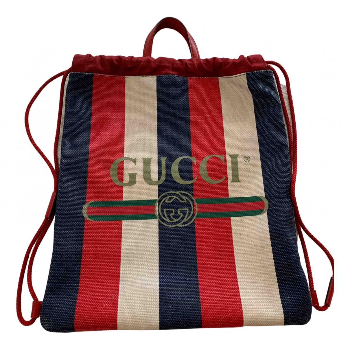 Gucci - Sac a dos   pour femme en toile - marine