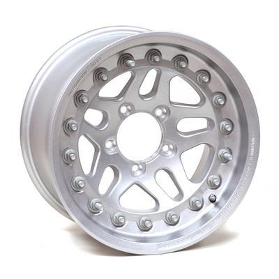 Rock Monster D.O.T. Beadlock, 17x8.5 Wheel with 5 on 5.5 Bolt Pattern - Silver - 60636-047-03