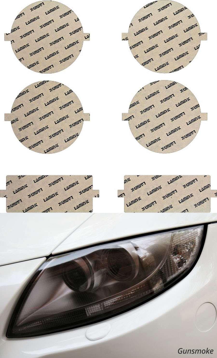 BMW M3 Coupe 88-92 Gunsmoke Headlight Covers Lamin-X B044G