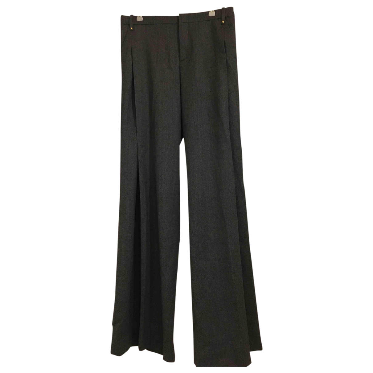 Gucci N Grey Wool Trousers for Women S International