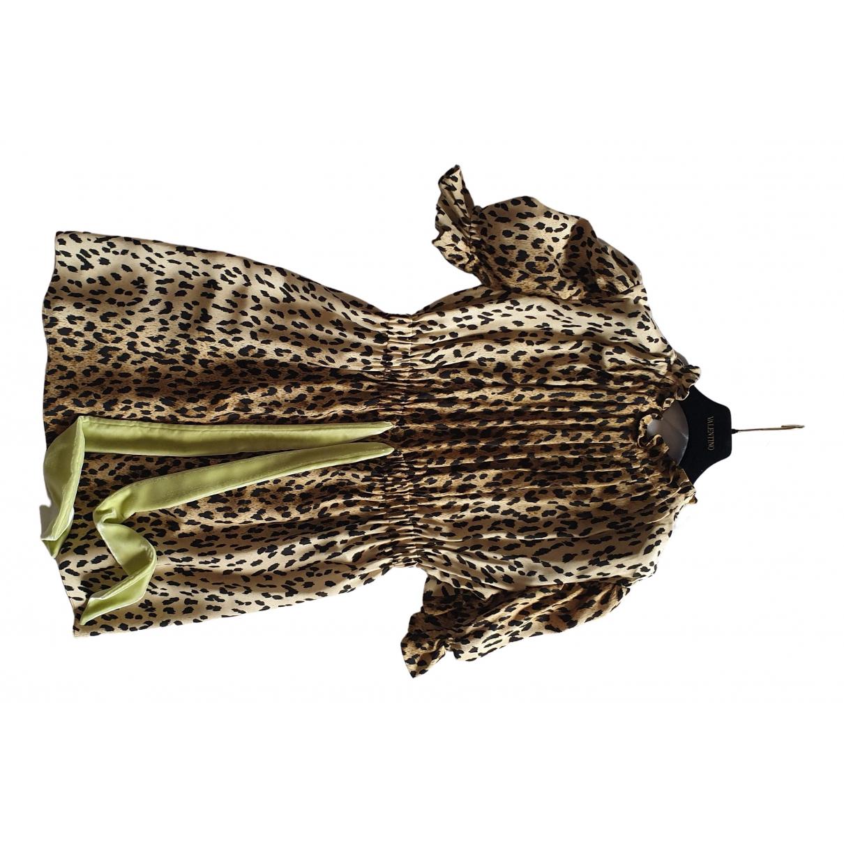 Valentino Garavani - Robe   pour femme en soie - beige