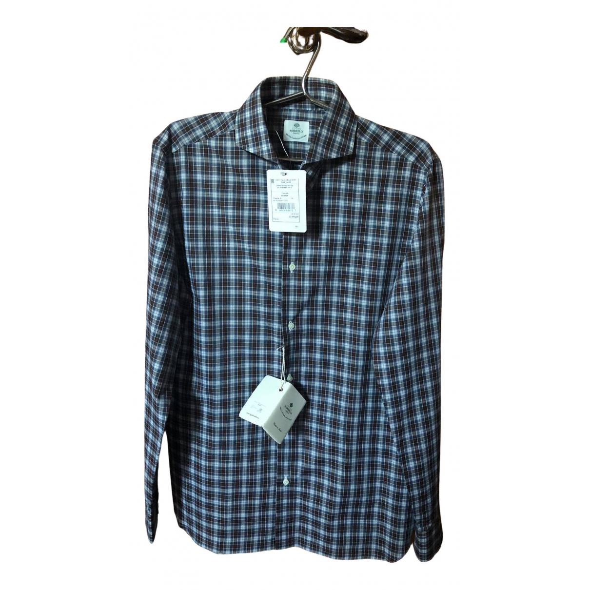 Borrelli - Chemises   pour homme en coton - marron