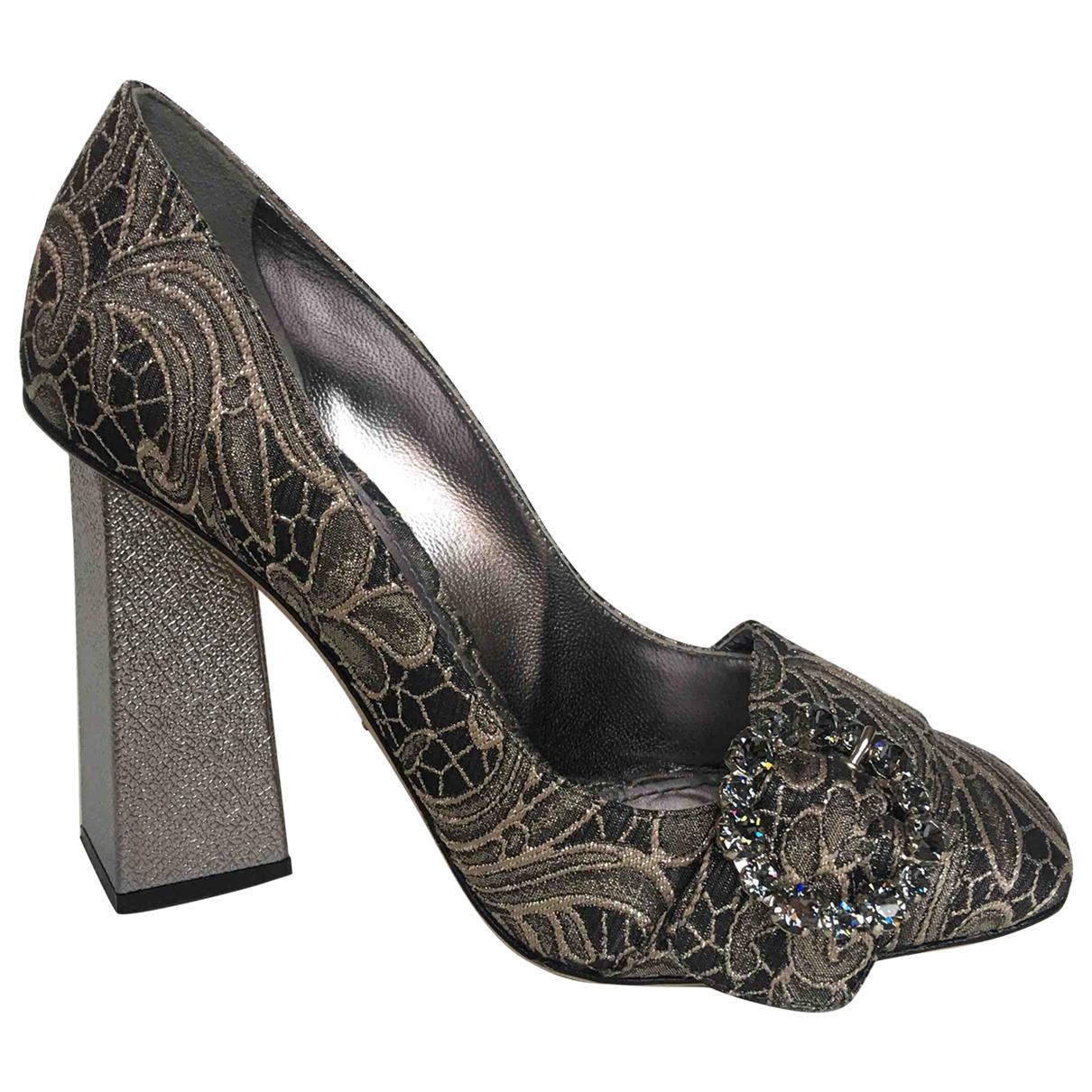 Dolce & Gabbana \N Silver Cloth Heels for Women 38 EU