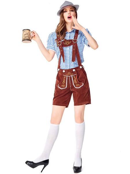 Milanoo Disfraz Halloween Disfraces de Halloween Cerveza Disfraz de niña Ojales de encaje negro Top Algodon Cerveza Niña Disfraces de vacaciones Disfr