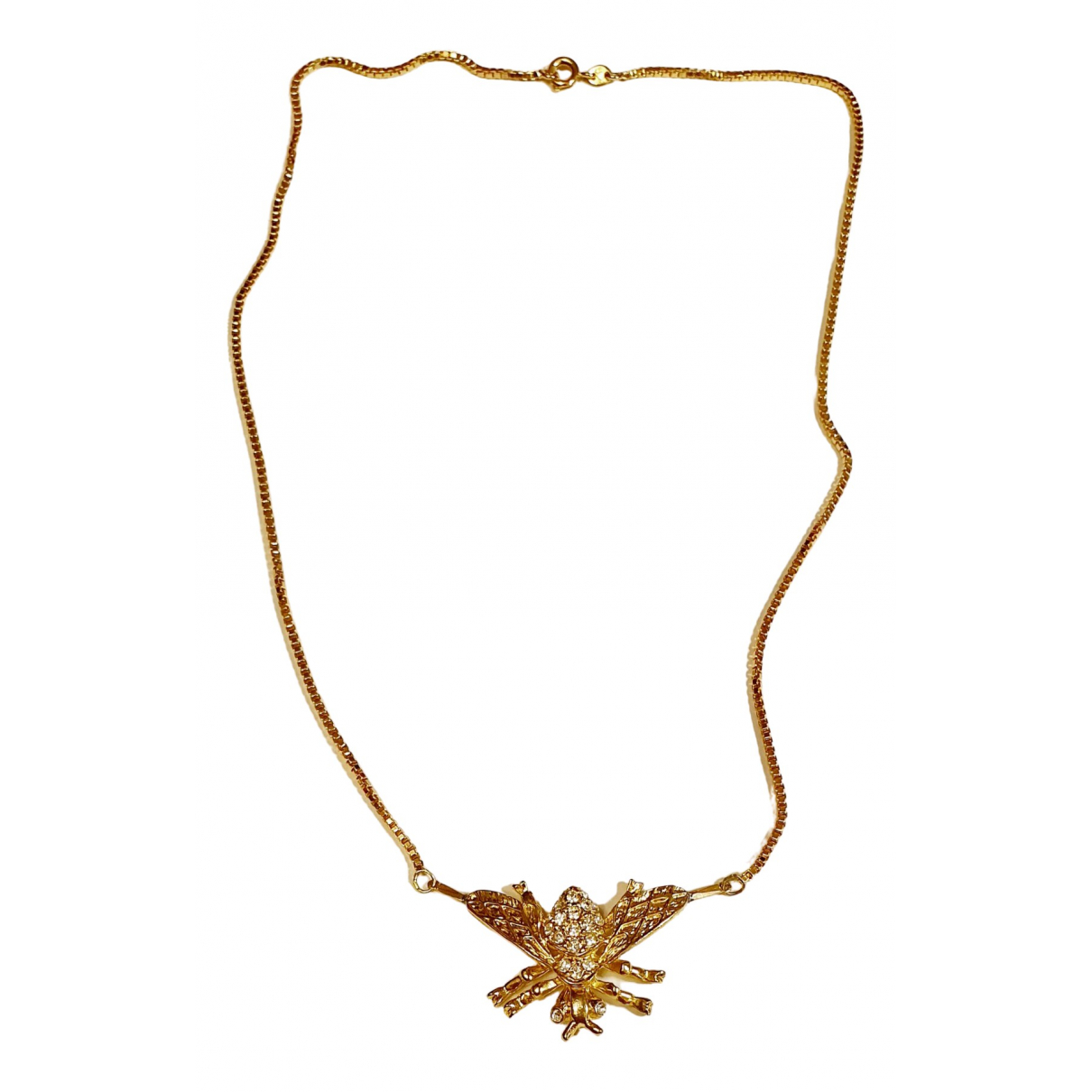 Non Signe / Unsigned Motifs Animaliers Kette in  Gold Vergoldet