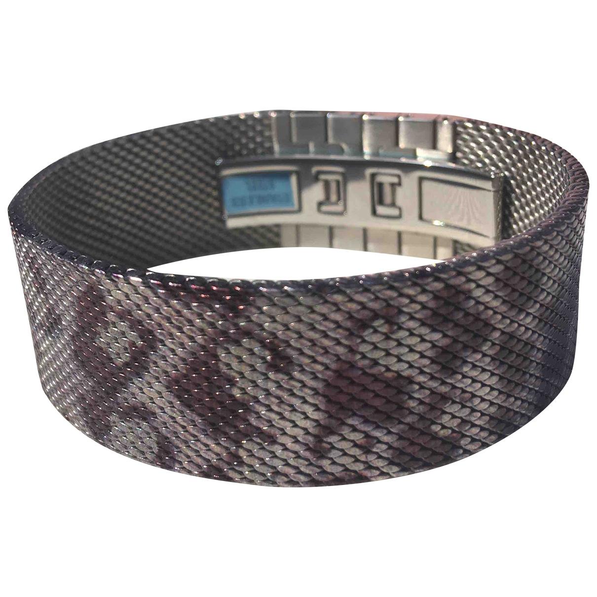 - Bracelet   pour femme en acier - marron