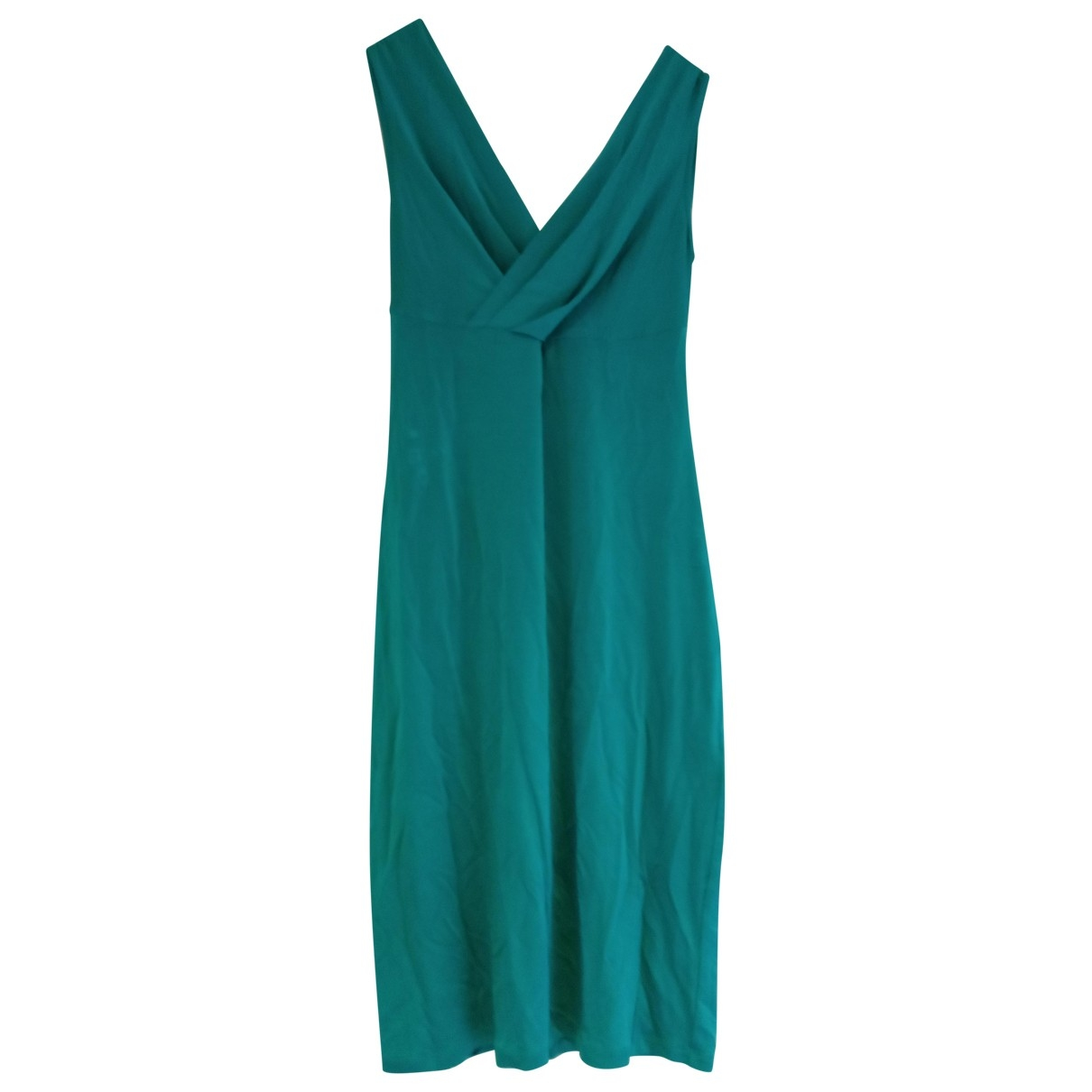 Galliano \N Kleid in  Tuerkis Viskose