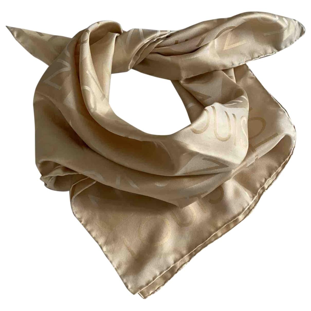 Louis Vuitton - Carre   pour femme en soie - dore