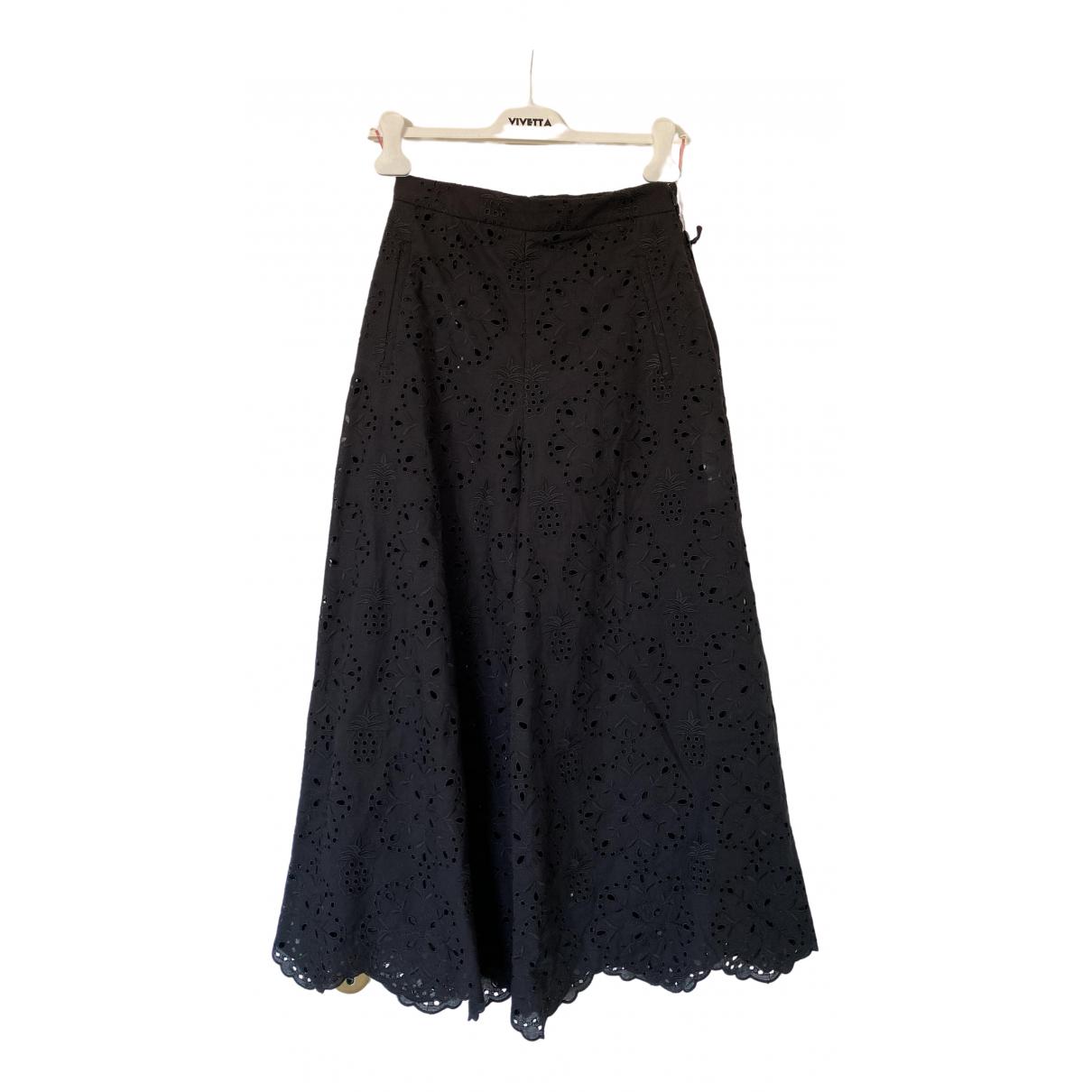 Vivetta \N Black Cotton Trousers for Women 40 IT