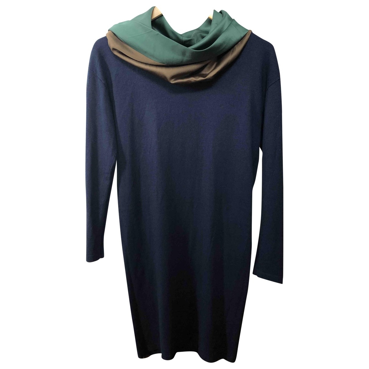 Non Signé / Unsigned \N Navy Wool dress for Women XS International