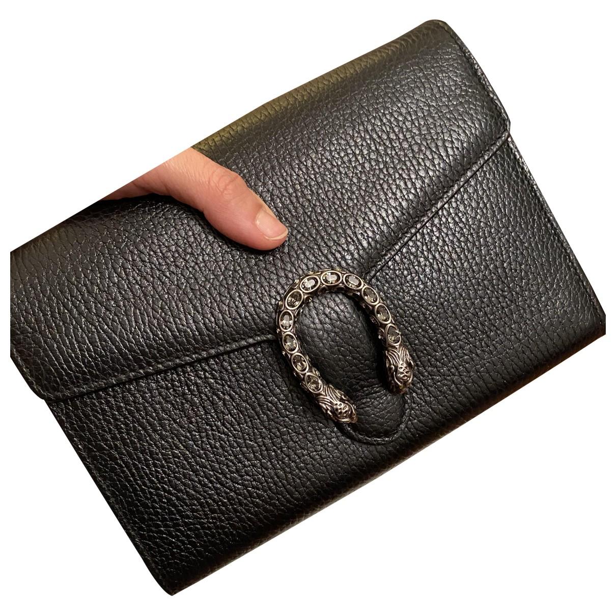 Gucci - Pochette Dionysus pour femme en cuir - noir