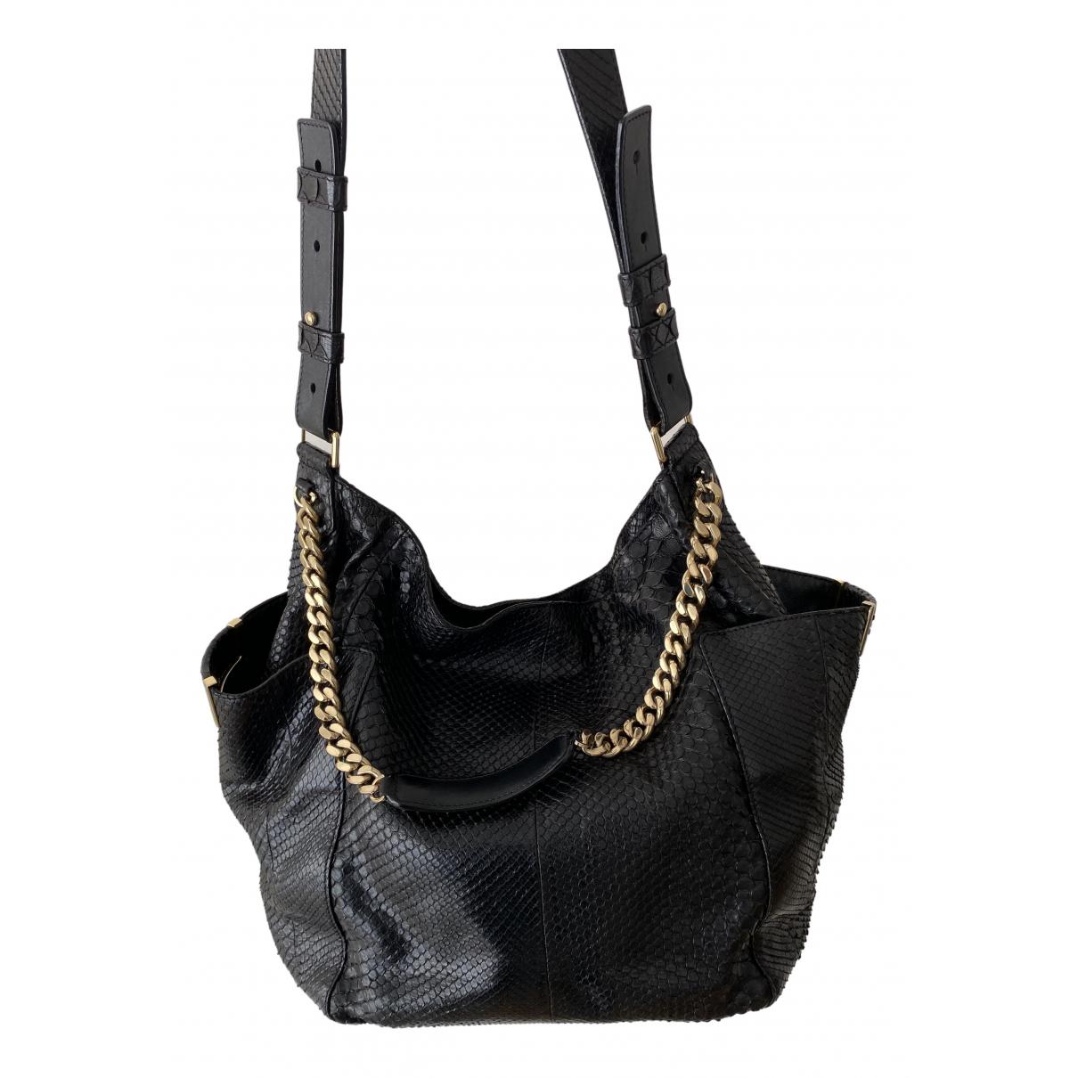 Jimmy Choo \N Black Python handbag for Women \N