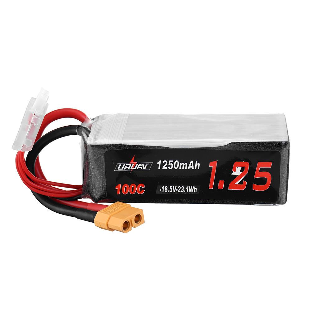 URUAV 18.5V 1250mAh 100C 5S Lipo Battery XT60 Plug for FPV RC Drone