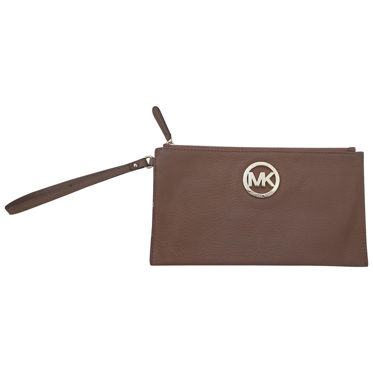 Michael Kors - Petite maroquinerie   pour femme en cuir - marron
