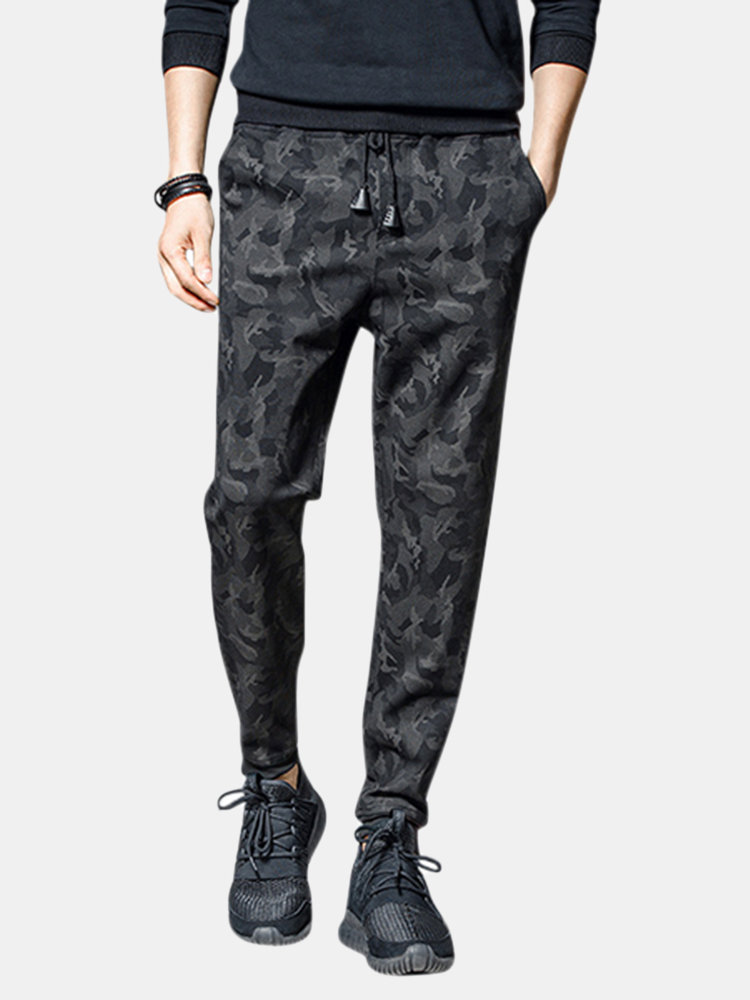 Mens Fashion Skinny Camouflage Harem Pants