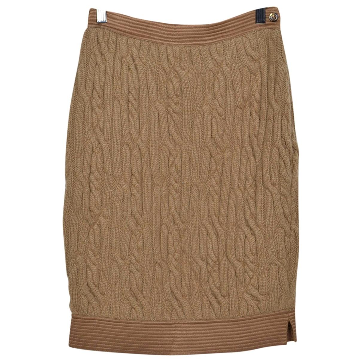 Gianfranco Ferré \N Beige Wool skirt for Women 42 IT