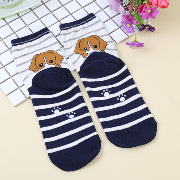 Men Women Cartoon Stripe Cotton Socks Multi-Color Casual Ankle Sock High Quality Socks