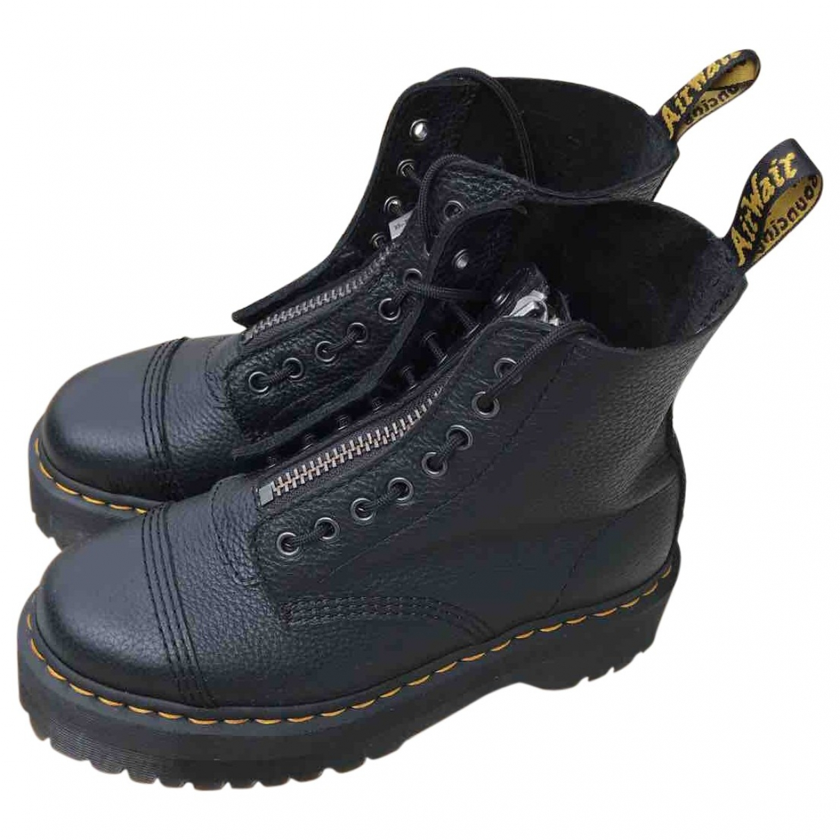Dr. Martens \N Black Leather Boots for Women 41 EU