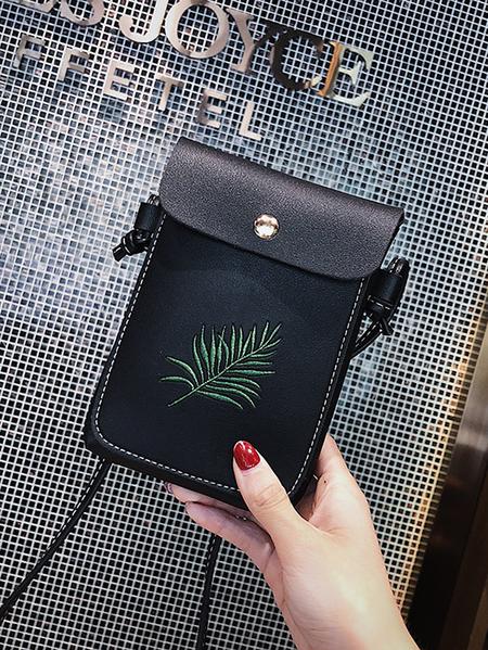 Yoins Plant Embroidered Fashion Phone Bag