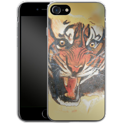 Apple iPhone 8 Silikon Handyhuelle - Tiger von Kaitlyn Parker