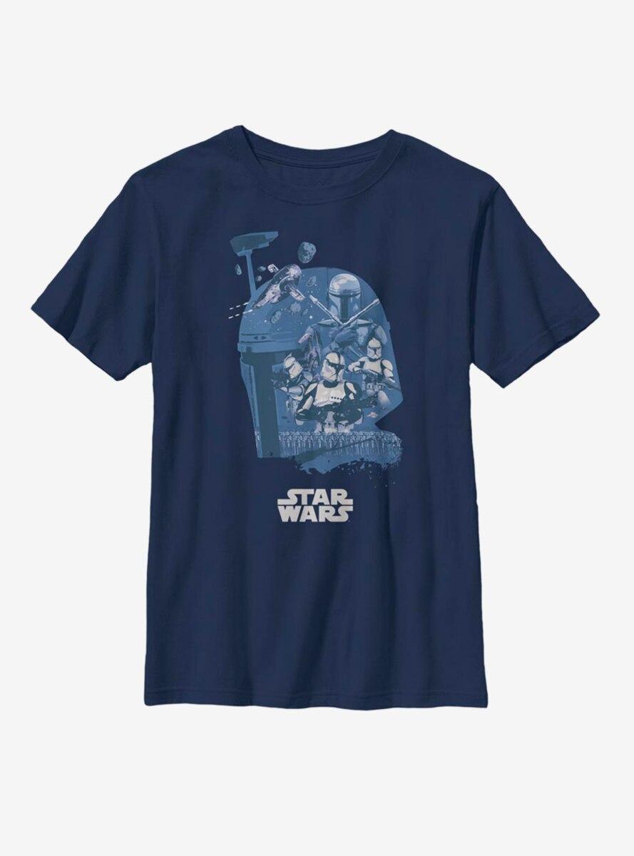 Star Wars Boba Fett Head Fill Youth T-Shirt
