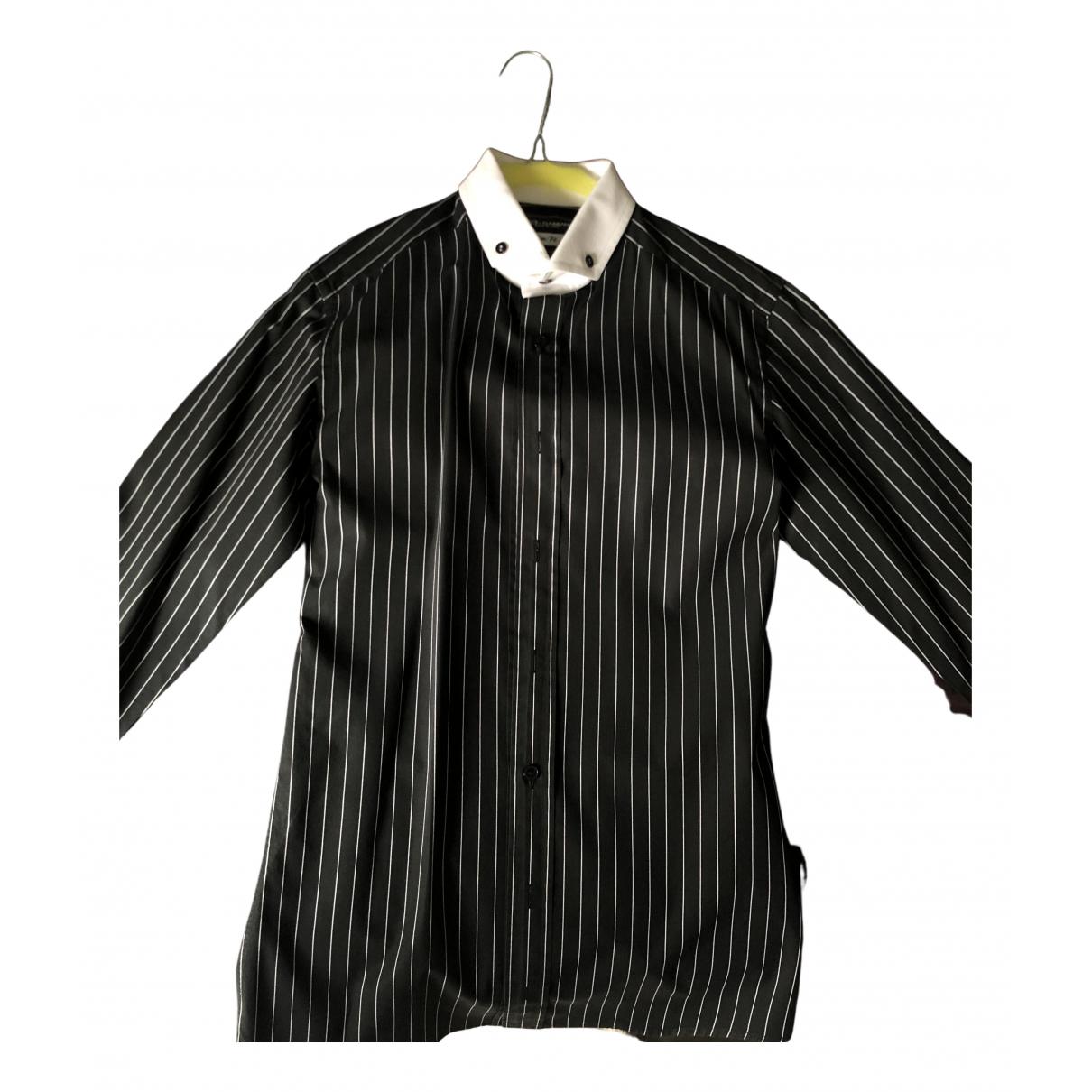 Dolce & Gabbana N Black Cotton Shirts for Men S International