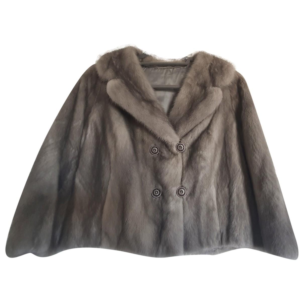 - Veste   pour femme en vison - gris