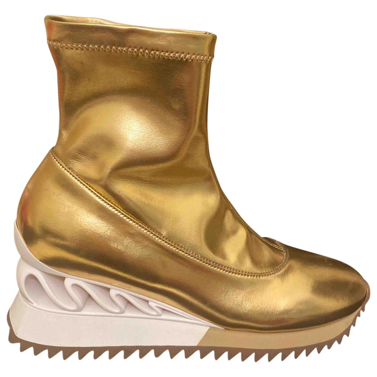 Le Silla \N Stiefeletten in  Gold Leder