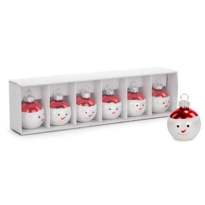Lot de 6 porte-cartes Place Cadeau de décoration de Noël - Bonhomme de neige 1.5