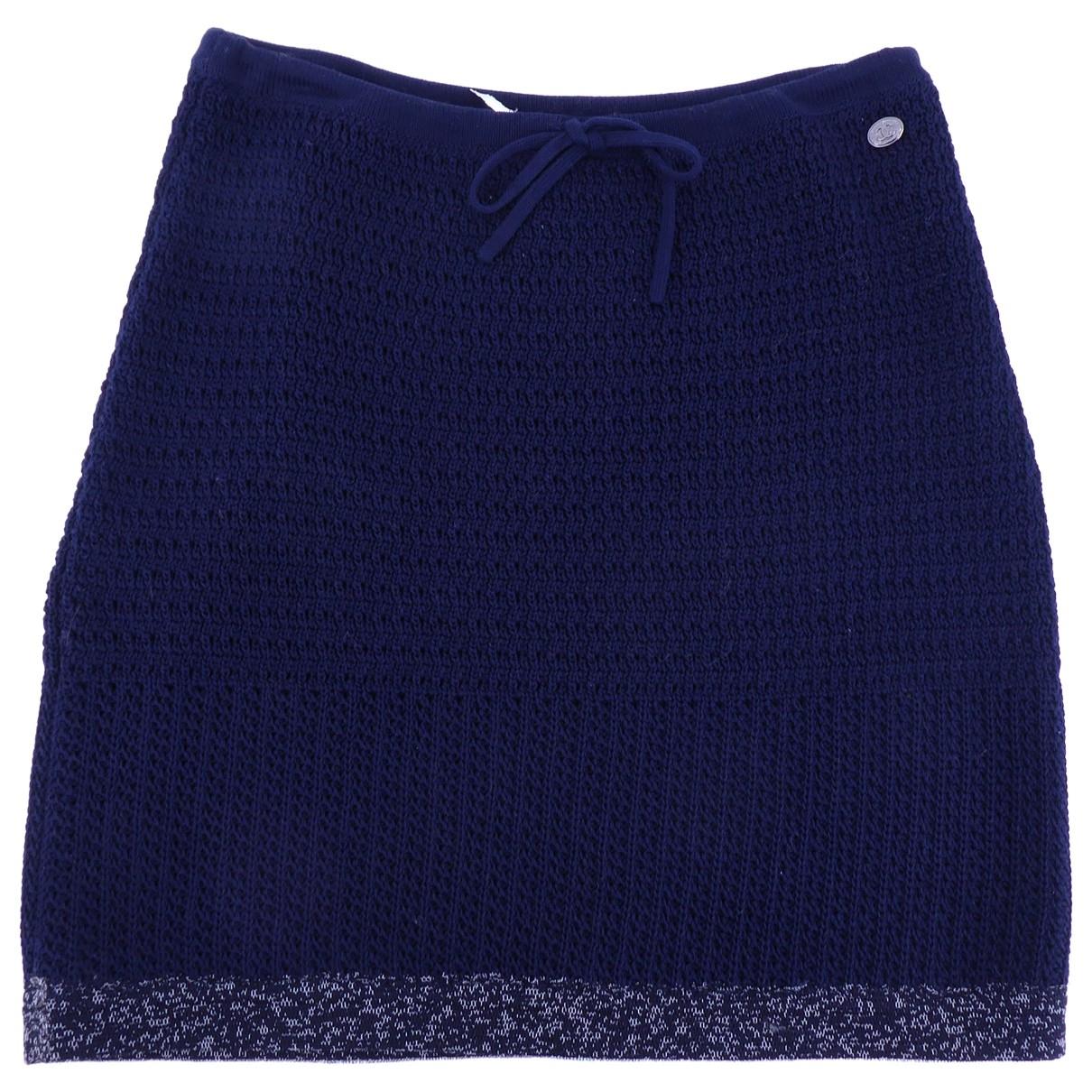 Chanel \N Blue Cotton skirt for Women 38 IT