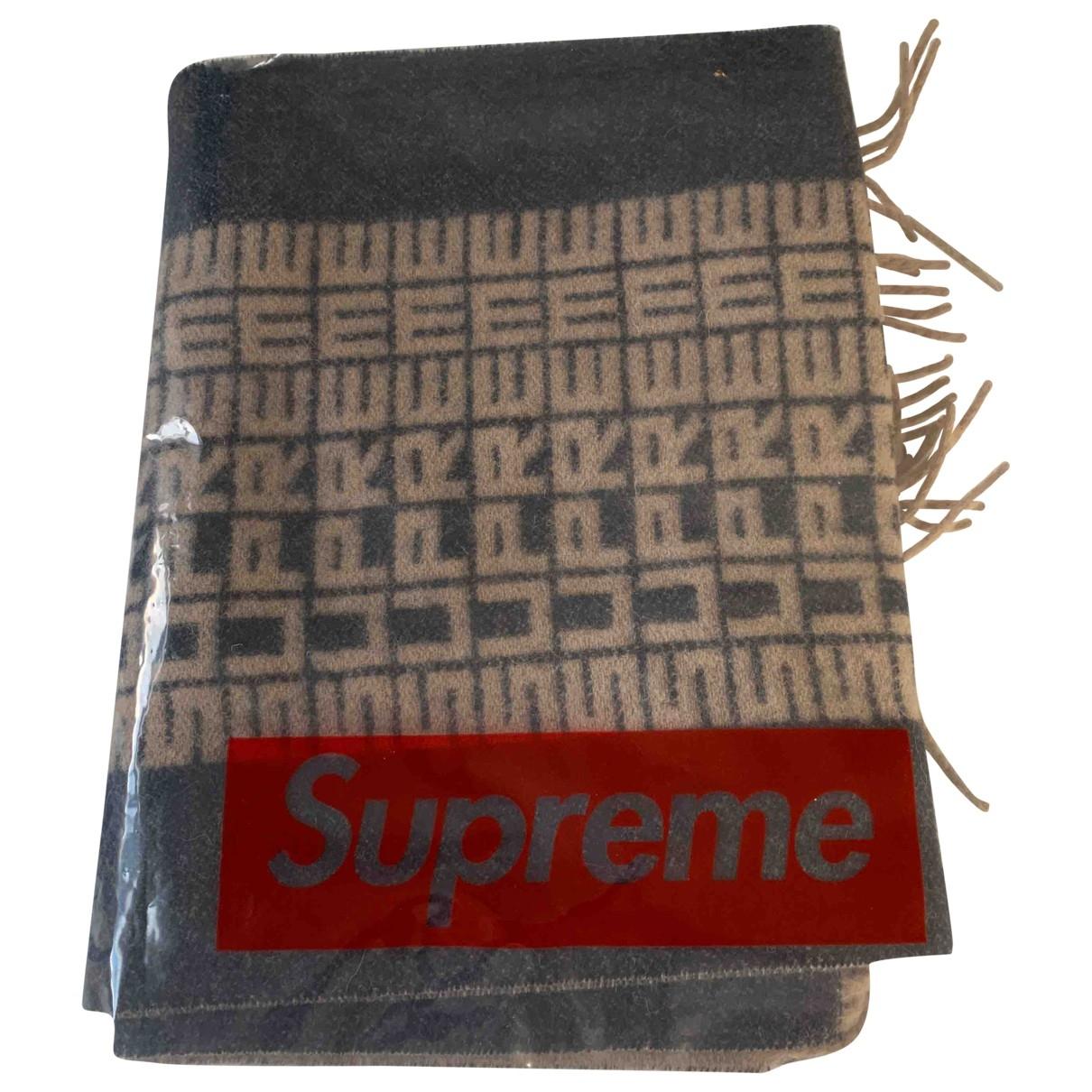 Supreme \N Tuecher, Schal in  Braun Wolle