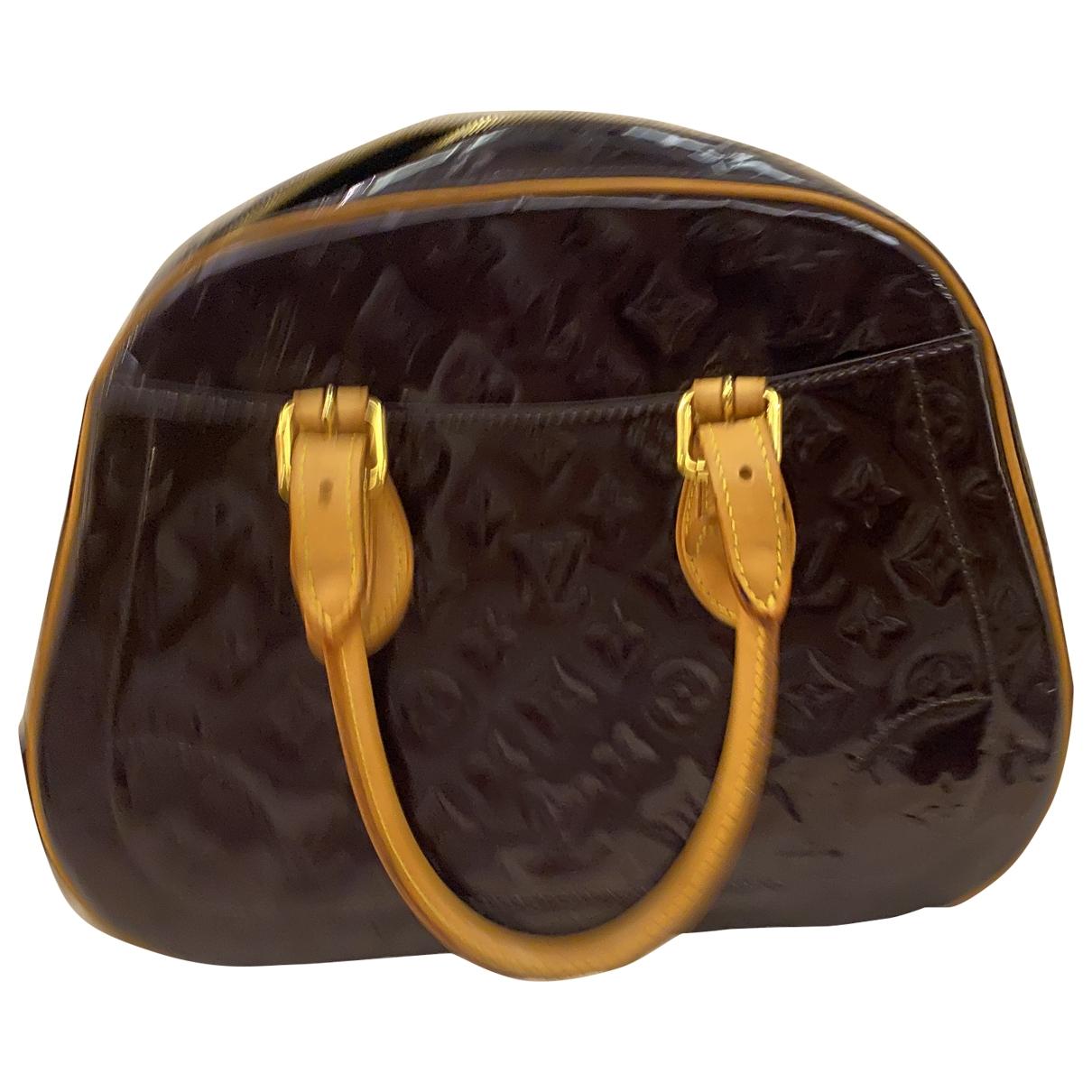 Louis Vuitton Summit  Handtasche in  Lila Lackleder