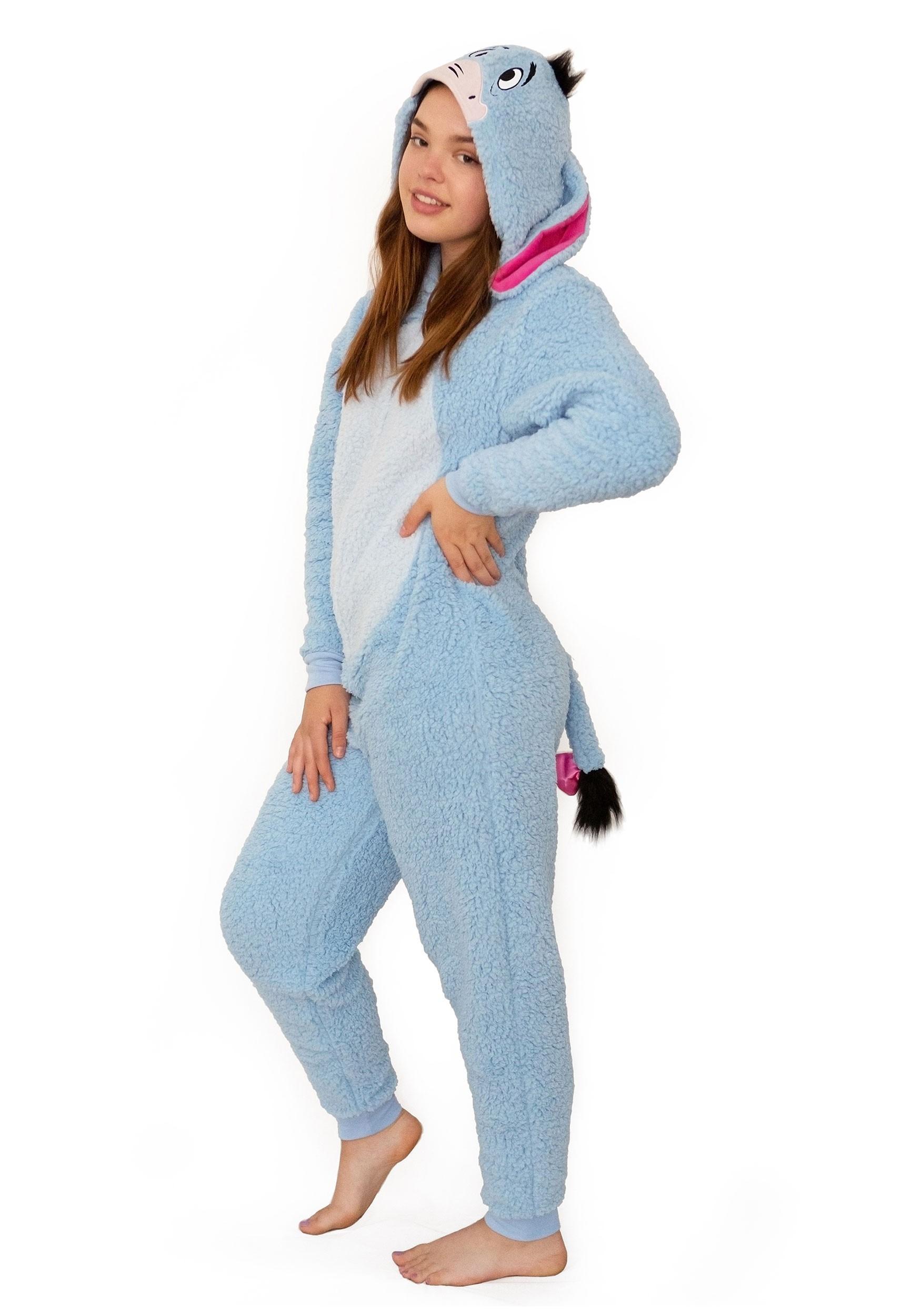 Winnie the Pooh Eeyore Union Suit Women's Costume