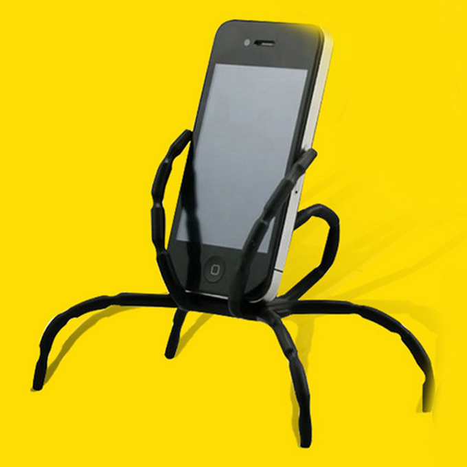 Universal Spider Holder for Mobile Phone 8 Leg Cell Phone Spider Holders Bicycle Car Home Use - Black