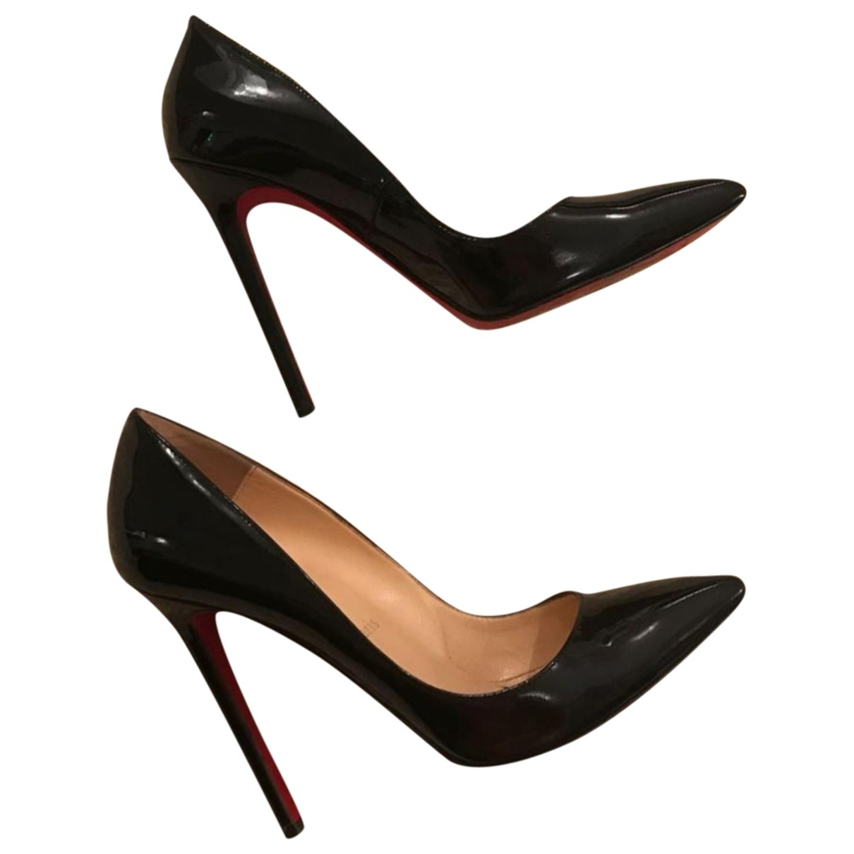 Christian Louboutin Pigalle Black Patent leather Heels for Women 36.5 EU