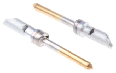 TE Connectivity , AMPLIMITE HDP-20 size 20 Male Solder Crimp Pin Connector, Gold over Nickel Signal, 18 AWG (5)
