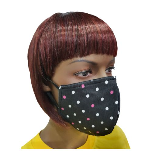 Fancy Cloth Face Mask for Adult - Polka Dots