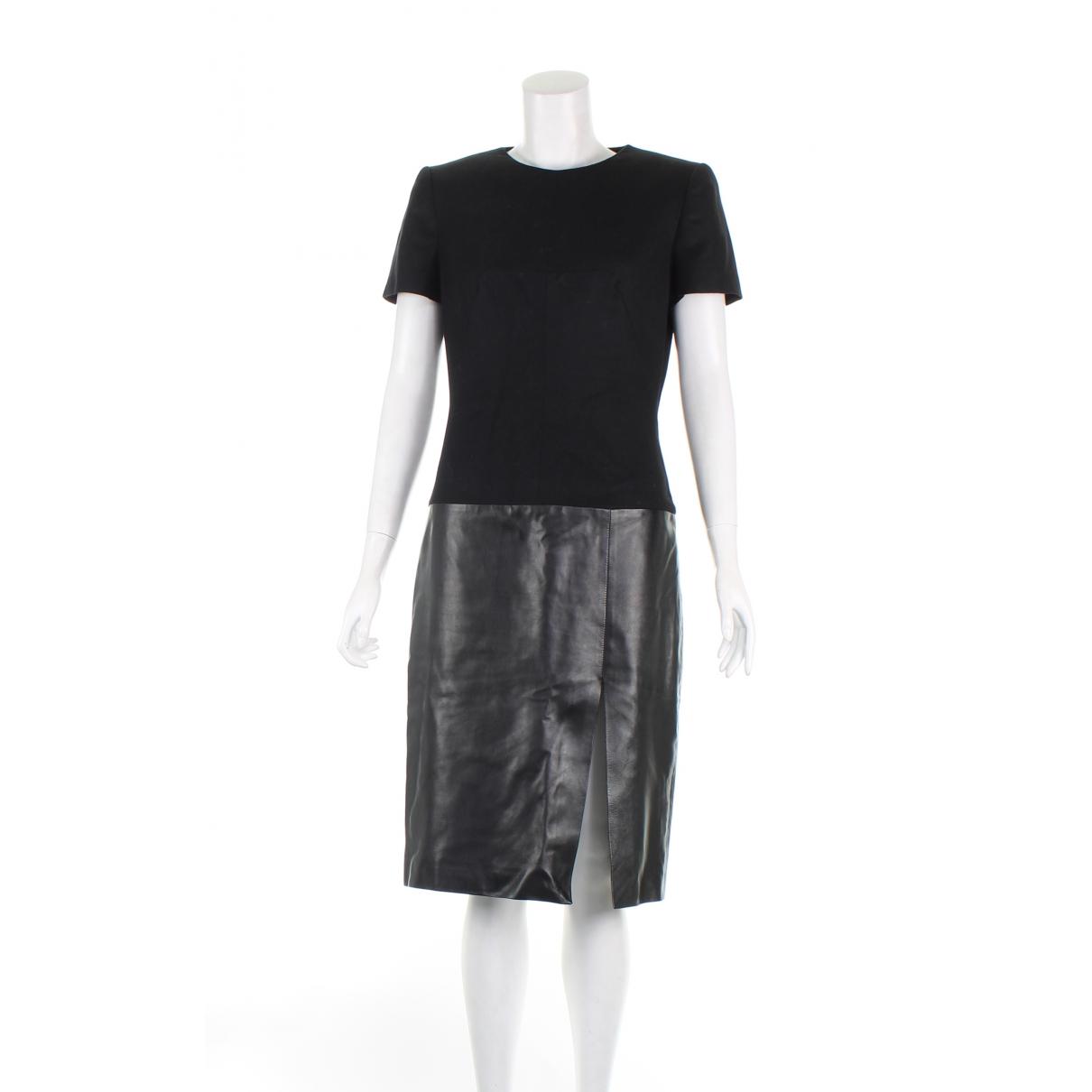 Alexander Mcqueen - Robe   pour femme en cuir - noir