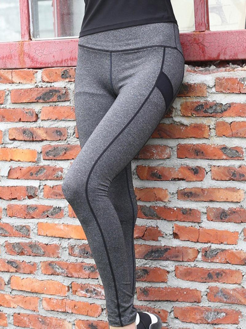 Ericdress Anti-Sweat Polyester Stripe Ping-Pong Female Leggings