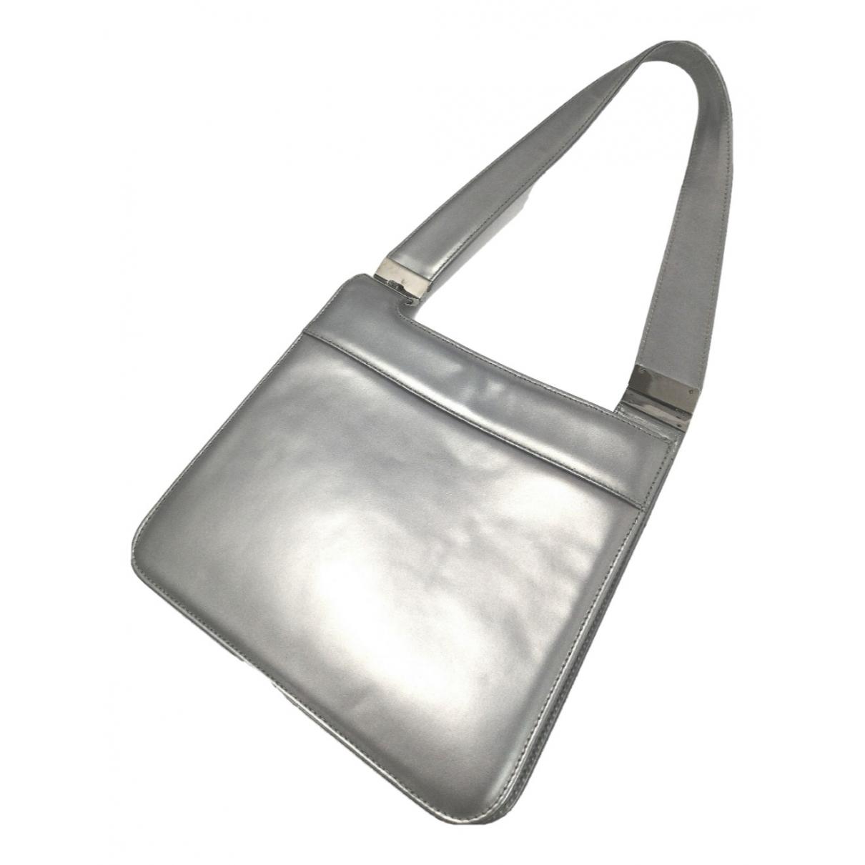 Gianni Versace N Silver Leather handbag for Women N