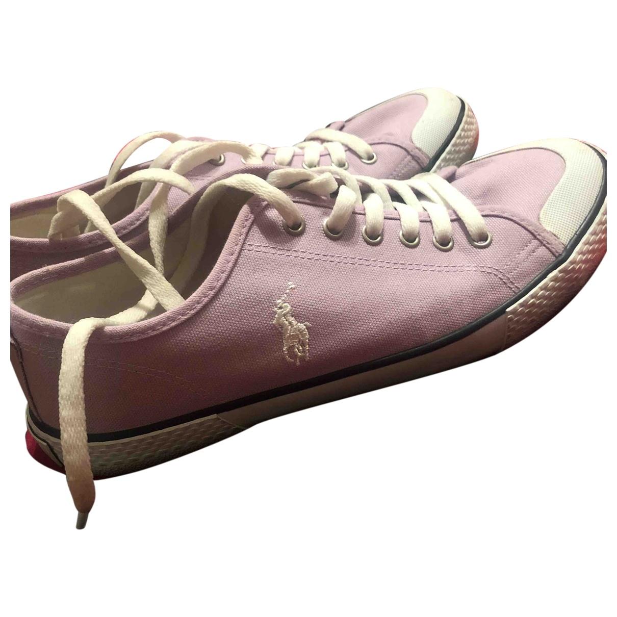 Ralph Lauren - Baskets   pour femme en toile - violet